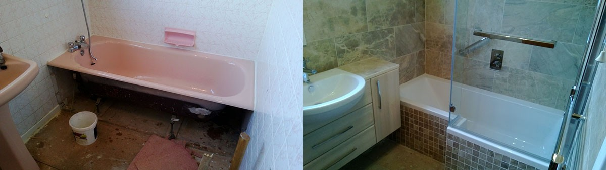 Bathroom Beforeand after